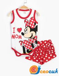 Disney MINNIE MOUSE Bebek Çıtçıtlı Takım - Thumbnail
