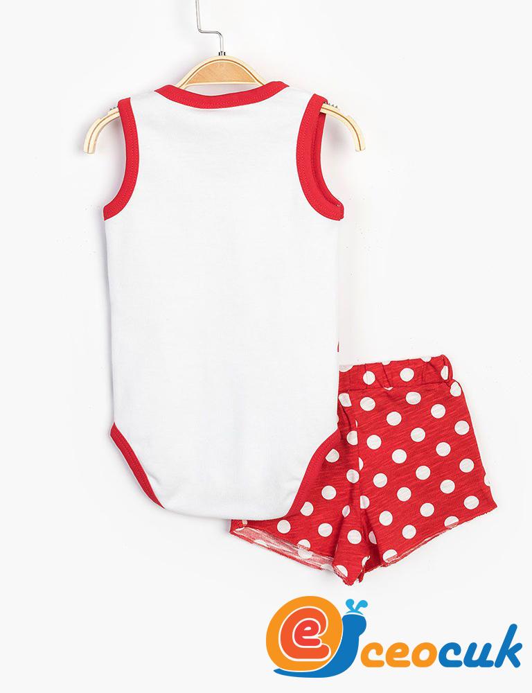 Disney MINNIE MOUSE Bebek Çıtçıtlı Takım