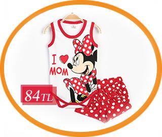 - Disney MINNIE MOUSE Bebek Çıtçıtlı Takım