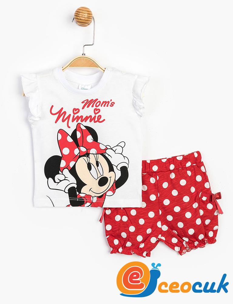 - Disney MINNIE MOUSE Bebek Şortlu Takım