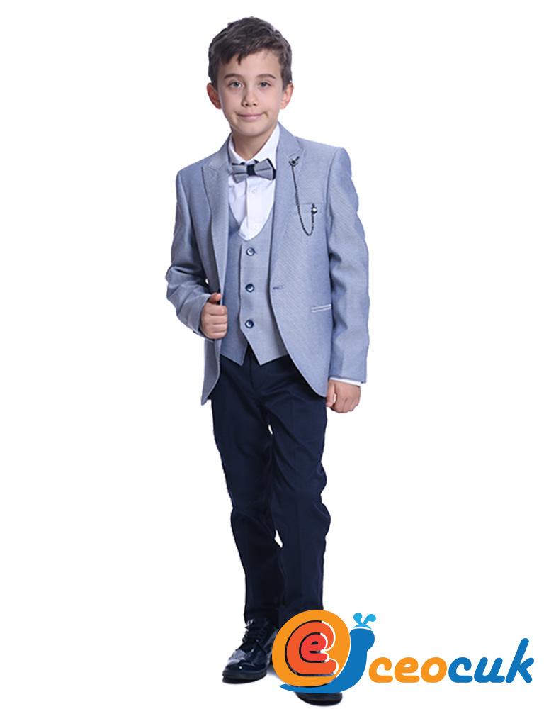 Erkek Çocuk Mavi Detay Takım Elbise