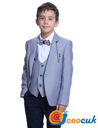 Erkek Çocuk Mavi Detay Takım Elbise - Thumbnail