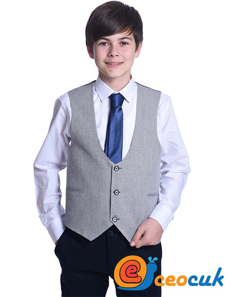 Gri Detay Çocuk Takım Elbise