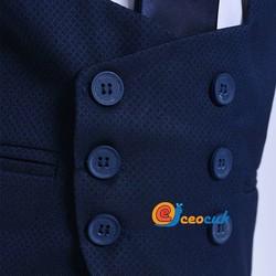Lacivert Yelekli Çocuk Takım Elbise - Thumbnail