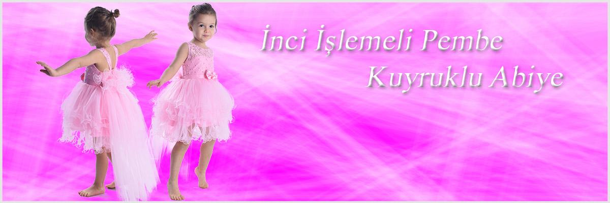 ceocuk - PEMBE İNCİLİ TÜTÜ ELBİSE