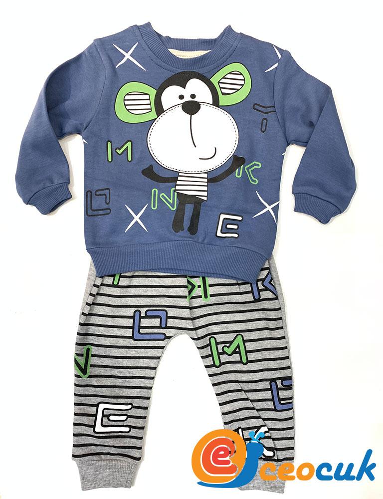 Sevimli Maymun Pijama Takım