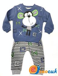 Sevimli Maymun Pijama Takım - Thumbnail