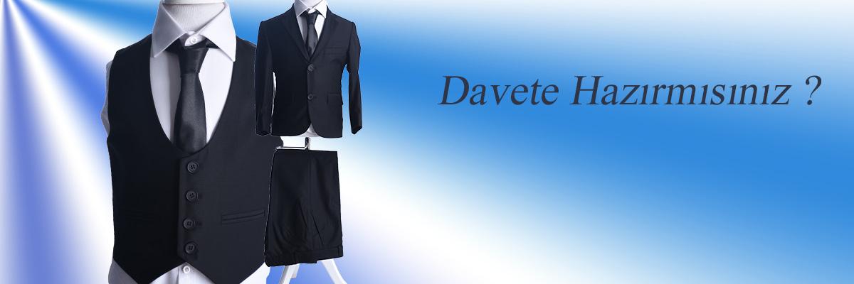 ceocuk - Siyah Yelekli Klasik Takım Elbise