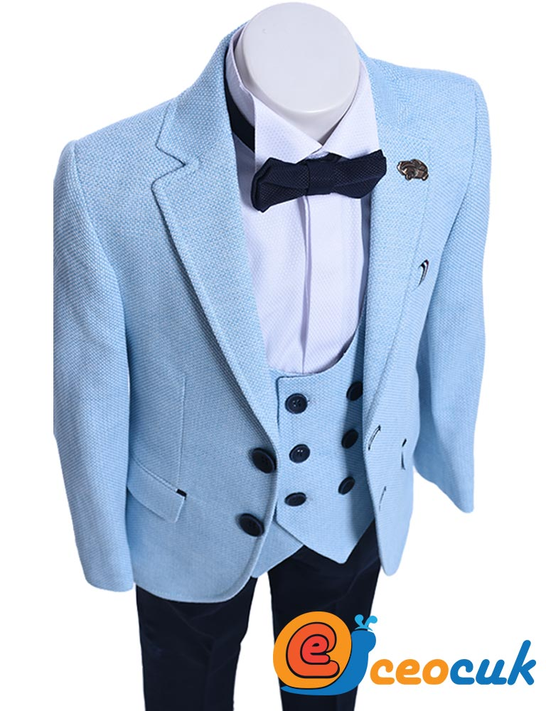 Su Mavi Çocuk Takım Elbise
