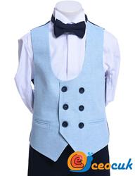 Su Mavi Çocuk Takım Elbise - Thumbnail